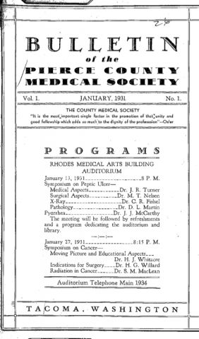 Cover image for PCMS Bulletin 1931