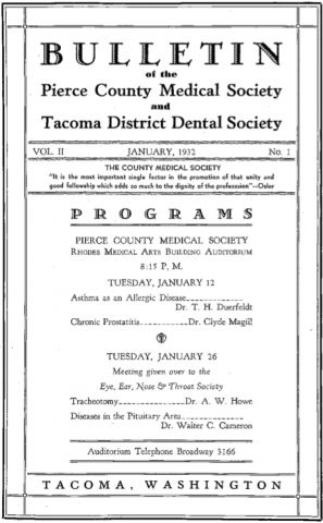 Cover image for PCMS Bulletin 1932