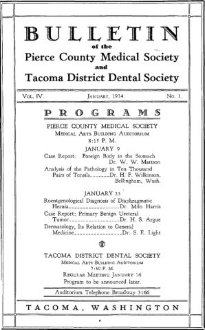 Cover image for PCMS Bulletin 1934