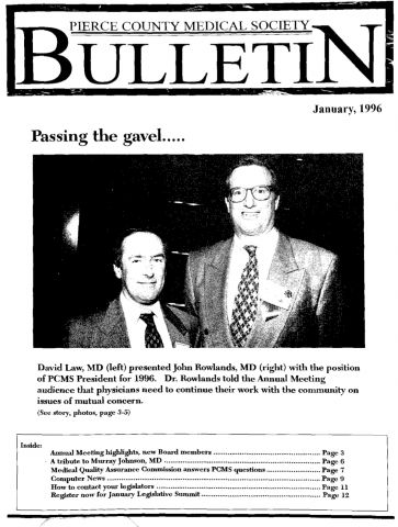 Cover image for PCMS Bulletin 1996