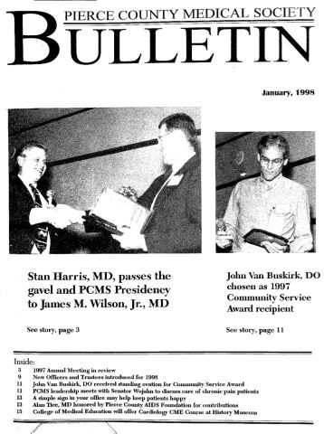 Cover image for PCMS Bulletin 1998
