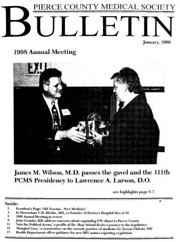 Cover image for PCMS Bulletin 1999