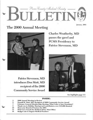 Cover image for PCMS Bulletin 2001