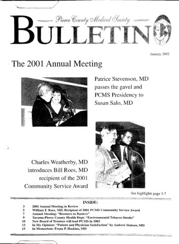 Cover image for PCMS Bulletin 2002