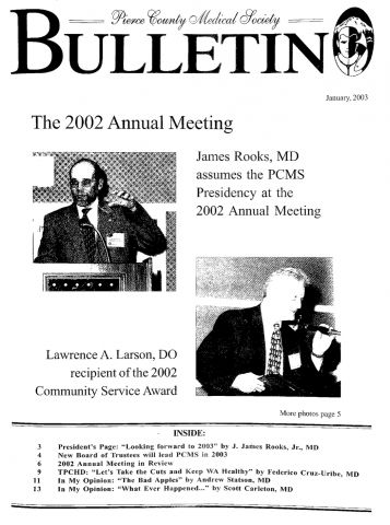 Cover image for PCMS Bulletin 2003