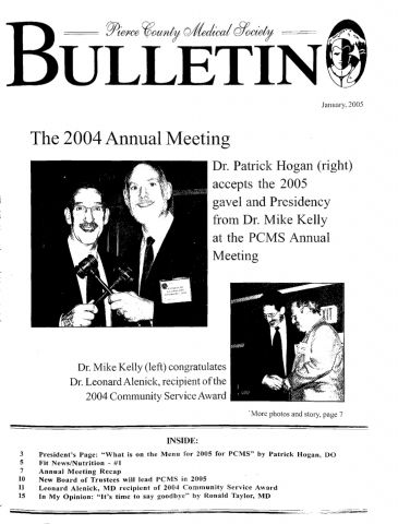 Cover image for PCMS Bulletin 2005