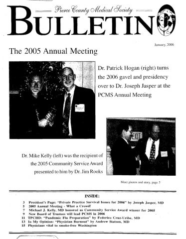 Cover image for PCMS Bulletin 2006