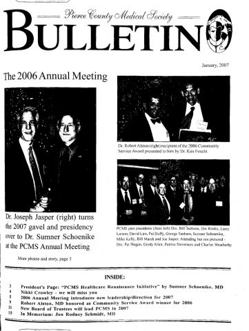 Cover image for PCMS Bulletin 2007