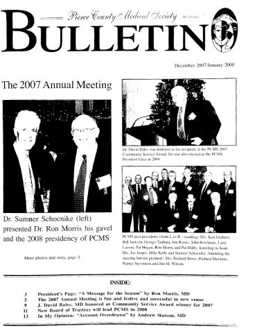 Cover image for PCMS Bulletin 2008