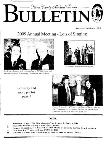 Cover image for PCMS Bulletin 2010