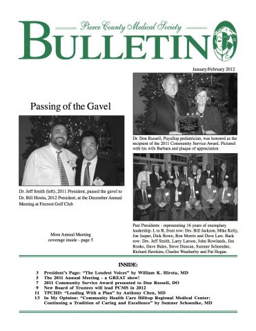 Cover image for PCMS Bulletin 2012